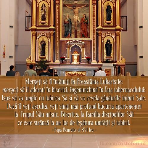 Mergeți să îl adorați în biserici