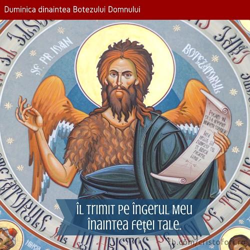 Îl trimit pe îngerul Meu înaintea feței Tale