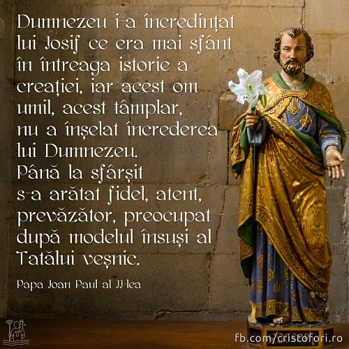 Iosif nu a înșelat încrederea lui Dumnezeu