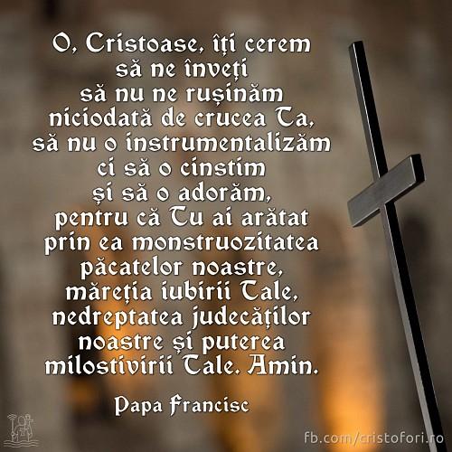 Crucea arată monstruozitatea păcatelor noastre