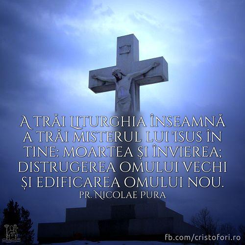 A trăi în tine misterul lui Isus