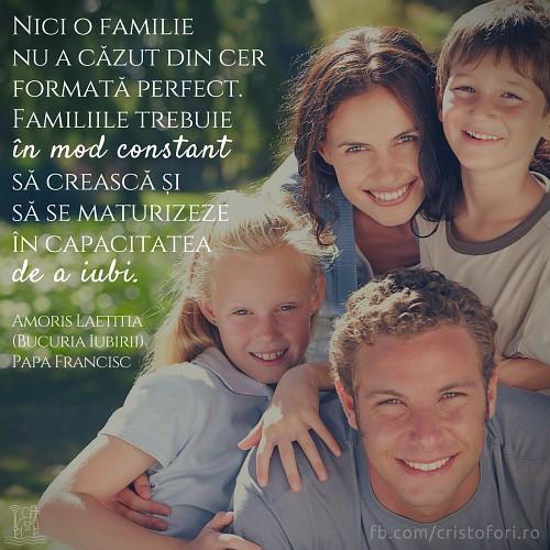 Familiile nu cad din cer