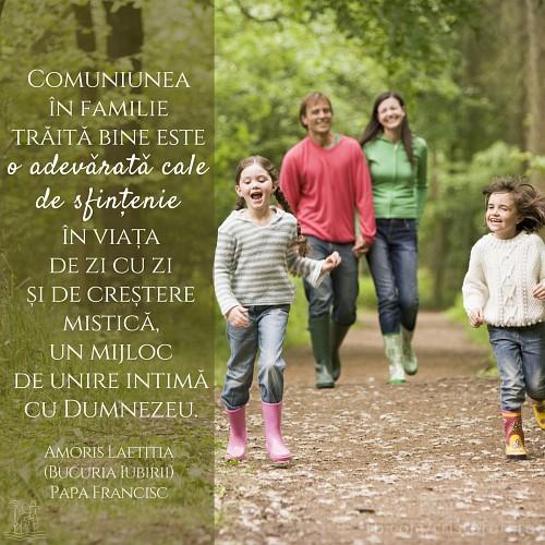 Comuniunea în familie, cale de sfințenie