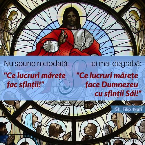 Ce lucruri mărețe face Dumnezeu cu sfinții Săi!
