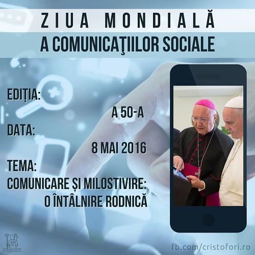 A 50-a Zi Mondială a Comunicațiilor Sociale