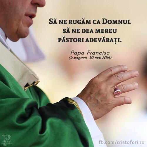 Să ne rugăm pentru păstori adevărați
