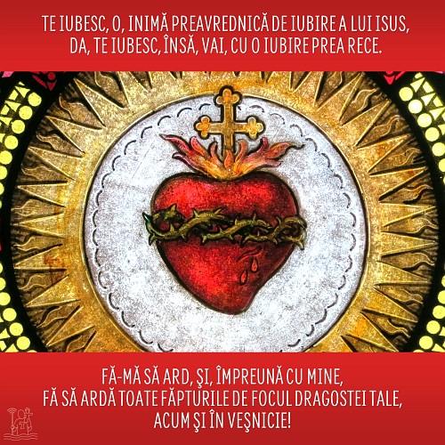 Te iubesc, o, inimă a lui Isus