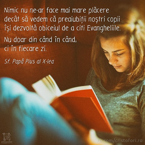 Copiii noștri să citească Evanghelia