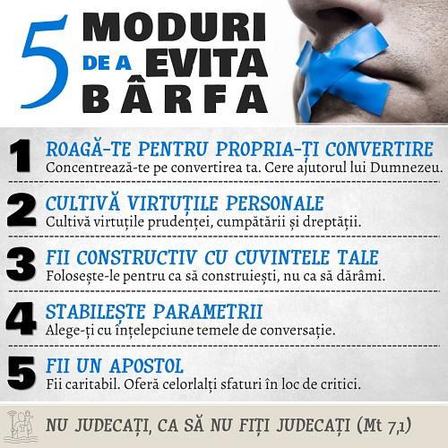 5 moduri de a evita bârfa