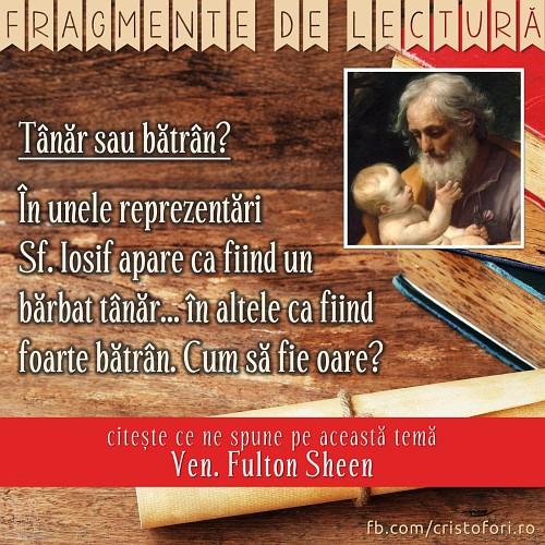 Sf. Iosif – tânăr sau bătrân?