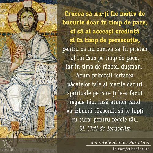 Crucea în timp de pace și de persecuție